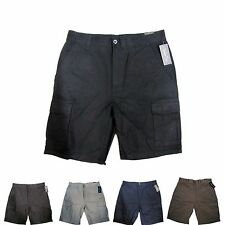 NWT Men's Cargo Shorts 6 Pockets Black Navy Khaki Olive Grey 32 34 36 38 40
