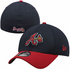 New Era Atlanta Braves Navy MLB Team Classic Logo 39THIRTY Flex Hat - MLB