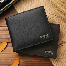 Fashion Men Genuine Leather Trifold Wallet ID/Credit Card Holder Coin Purse