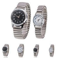 Fashion Women Men Couple Stainless Steel Band Quartz Analog Wrist Watch Business
