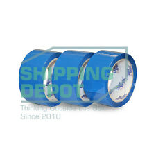 "1-72 Rolls 2x55 BLUE Colored Packing Carton Sealing Tape 2"" x 55yds 165ft"