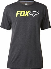 Fox Racing Mens Heather Black Obsessed Short Sleeve Tech T-Shirt Tee