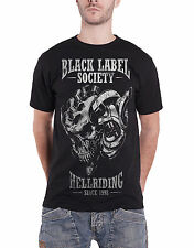 Black Label Society T Shirt Hell Riding since 1998 band logo Official Mens Black
