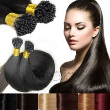"""UK 16"""" 18"""" 20"""" 22"""" 24""""Pre Bonded STICK I-TIP Remy Human Hair Extensions 0.5 N417"""