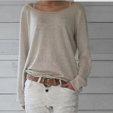 Fashion Women Long Sleeve Knitted Jumper Loose Sweater Knitwear Pullover Tops