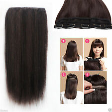 220g 5Clips One Hairpiece Deluxe Thick Virgin Clip In Real Human Hair Extensions