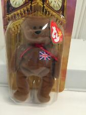 ~BRITANNIA the Bear Ty Teenie Beanie Babies McDonalds RT Union Flag 1997