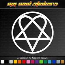 HIM Heartagram Decal for 4x4,car,ute,window - 3 sizes available music band