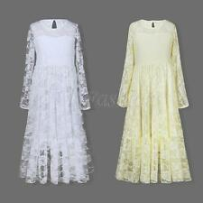 Kids Flower Girl Dress Party Pageant Wedding Bridesmaid Lace Long Gown Dresses