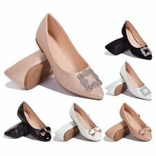 Womens Diamante Bow Ribbon Evening Formal Dolly Flats Ballet Pumps Flat Shoes