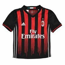 Adidas AC Milan Home Jersey 2016 2017 Juniors Black/Red Football Soccer Shirt