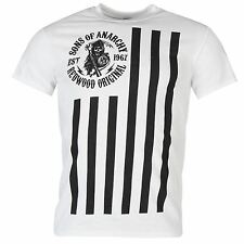 Sons of Anarchy Official T-Shirt Mens White Top Tee Shirt