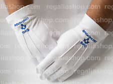 Craft Masonic Gloves with Blue Square and Compass and Your Lodge Name and Number