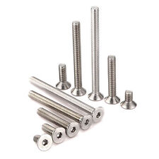 M4-M12 A2 Stainless Steel Countersunk Screws, Hexagon Socket Hex Key Bolts