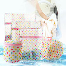 1PC Zipped Wash Bag Laundry Washing Mesh Net Home Cleaning White Polyester Bags