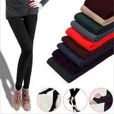Womens Warm Winter Skinny Slim Cotton Full Leggings Stretch Pants Thick Footless