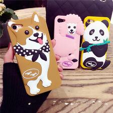 Cute 3D cartoon panda dog Silicone Rubber Soft case Cover for iPhone 7 6 6S Plus