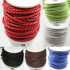 Wholesale Pure Hand-Woven Braided Leather Cord Make Necklace Or Bracelet 5/100 M
