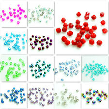 Wholesale 500pcs 3mm Faceted Bicone Charms Glass Crystal Loose Spacer Beads