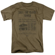 Back to the Future SAVE THE CLOCK TOWER Hill Valley Newspaper T-Shirt All Sizes