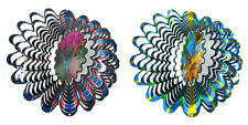 """Shipityourway 12"""" 3D Wind Spinners Animated Holographic Home Patio Yard Art Gift"""