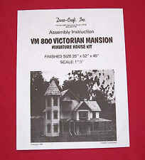 Dura-Craft  *VICTORIAN MANSION* VH-800  Dollhouse Instructions