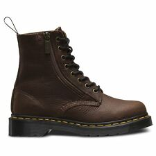 Dr.Martens 8-Eyelet Zip Pascal Grizzly Dark Brown Womens Boots