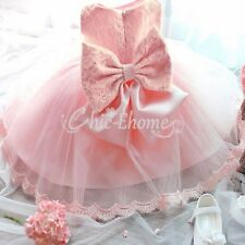 Baby Lace Princess Flower Girl Wedding Bridesmaid Party Christening Formal Dress