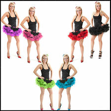 Ladies Womens Sexy 2 Layers Short Ruffle Tutu Skirt Fancy Dance Party Costume Σ