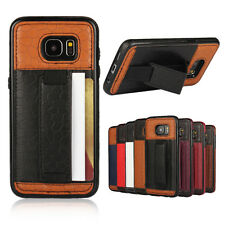 NEW Slim Leather Wallet Card Holder Stand Back Protective Cover Case For Samsung