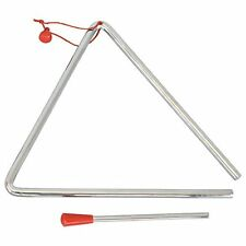 """6"""" or 8"""" Musical Triangle & Beater Percussion Metal Instrument Music School Toy"""