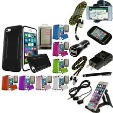 For Apple iPhone 5 Brushed Metallic Aluminum Metal Hard Case Cover + Bundle