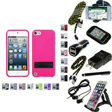 For Apple iPod Touch 5th 6th Gen TPU Hard Case Skin Phone Cover + Bundle