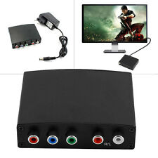 RGB Component YPbPr Video & R/L 1080P Audio Adapter Converter HD TV to HDMI UK *