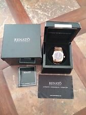 New Renato Cyclops limited rose gold stainless LIM ed watch NIB collezioni 34/36