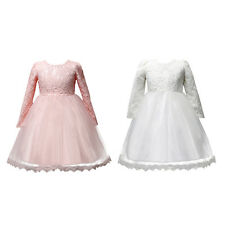 Flower Girls Princess Dress Prom Party Pageant Wedding Bridesmaid Lace Dresses