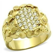 LGL029PB MANS NUGGET  SIMULATED DIAMONDS MENS RING ALL SIZES SIGNET PINKY
