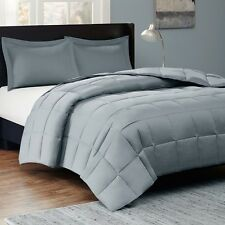 Grey Comforter Bedding Set With Matching Shams Soft 300 Thread Count