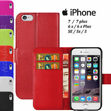 HIGH QUALITY PU Leather FLIP BOOK WALLET CASE COVER For Apple iPhone 7/6s PLUS 5