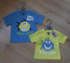 MINOTI Baby Boys Clothes 3-12 Months Blue or Yellow Shark Cotton T-Shirt Top NEW