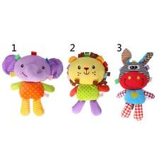 Colorful Cartoon Animal Stuffed Doll Baby Soft Plush Toy for Infant Toddlers