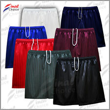 Boys Girls Kids Children Shadow Stripe School Uniform Shorts Gym PE Football •