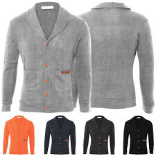 New Mens Slim Fit V-neck Knitted Pullover Cardigan Knitwear Sweater Jacket Coats