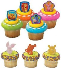 Disney Winnie the Pooh Cupcake Rings 12pcs Party Favors Cake Toppers Decorations