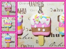Layered Ice Cream Popsicle Sprinkle Silver Plated Necklaces USA HANDMADE