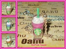 Starbucks Frappuccino Coffee Blended Smoothie Silver Plated Necklaces USA MADE
