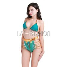 Women Sexy Push Up Bikini Set African Bandage Swimsuit Padded Swimwear Beachwear