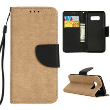 Luxury Magnetic Flip PU Leather Wallet Card Holder Stand Case Cover For Samsung
