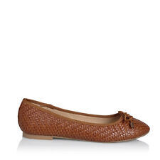New Billini Womens Shoes Jani Tan Weave Ballet Flats
