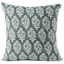 "16"" Kantha Decorative Throw Sofa Cushion Couch Pillow Cover Boho Bohemian Indian"